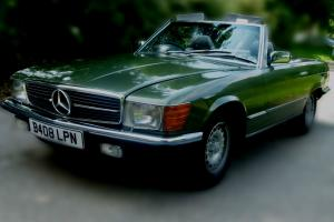 1985 MERCEDES 500 SL AUTO GREEN UNIQUE EXAMPLE