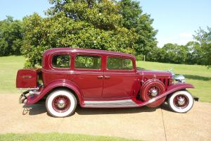 1932 Cadillac 355-B V8 Town Sedan Limo. Viceroy Maroon, Tan Bedford Cloth inside