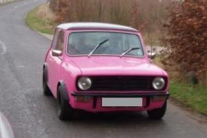 Pink Mini Clubman 1980
