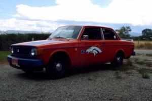 1974 Volvo model 142 two door sedan Denver Broncos custom