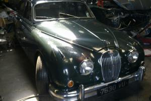 1964 JAGUAR MK2 3.8 MOD ,CHROME WIRES,BRITISH RACING GREEN