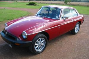 1977 MG B GT RED - Unrestored. Low mileage 32k miles from new.