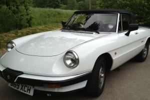 1987 ALFA ROMEO SERIES 3 S3 SPIDER 2000 - RARE WHITE CAR WITH BLACK LEATHER