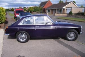 Classic black tulip MGB GT 2.0, chrome spoked wheels, tax exempt