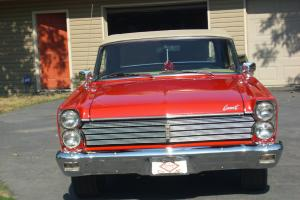 1965 MERCURY CALIENTE CONVERTIBLE -RED W/ TAN TOP AND INTERIOR  NICE