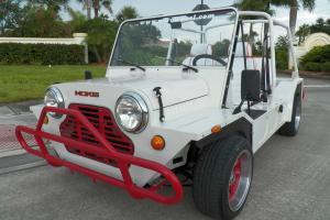 1980 AUSTIN MINI MOKE WHITE WITH RARE AUTOMATIC TRANSMISSION 1275CC CAGIVA MOKE