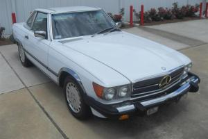 Mercedes 560SL Roadster: Both Tops, LOW MILES, 1 Owner, Records, SUPER CLEAN !!