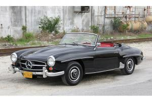 1962 Mercedes Benz 190 SL Roadster Classic Convertible Vintage Balck and Red