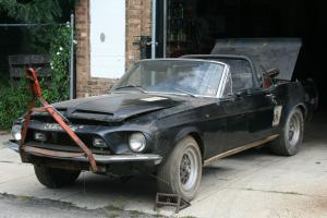 1968 Ford Shelby Mustang GT 500 Convertible 428 Big Block 4-Speed NICE BARN FIND for Sale