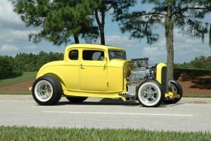 1932 Ford 5-Window Coupe Real Henry Ford Steel chevy blower supercharger chopped