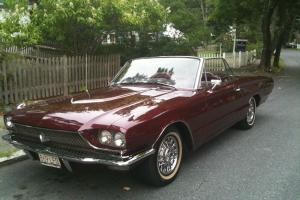 1966 Ford Thunderbird Base Convertible 2-Door 6.4L 390cc V8 in Burgundy