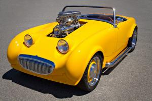 Modified Austin Healy bugeye blown small block roadster