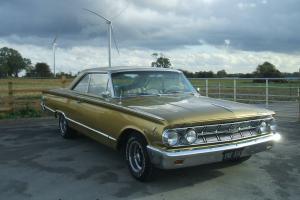 RARE 1963 MERCURY MONTEREY MARAUDER S55 PILLARLESS COUPE GOLD , MUSCLE CAR