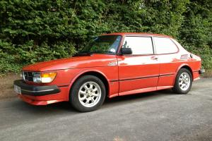 Saab 99 2DR Red Turbo with Airflow Bodykit. Smooth