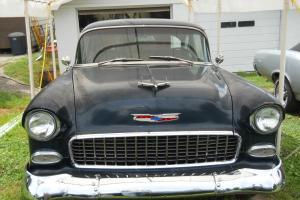 1955 Chevy BelAir 2 Door Post Upgraded Barn Find Lotsa New Stuff - 55 Chevrolet