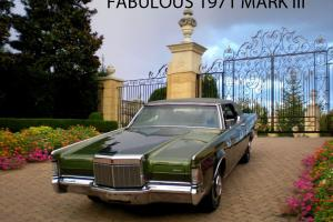 FABULOUS 1971 LINCOLN CONTINENTAL MARK III WITH RARE FACTORY PAINT OPTION