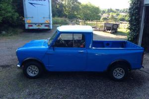 1980 AUSTIN MORRIS MINI 95 PICK UP BLUE/WHITE  Photo
