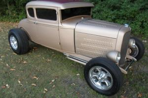 1930 ford model a coupe hot rod flatz louvered chopped