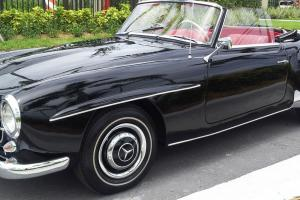 Restored Mercedes-Benz 190SL convertible with an optional removable Hardtop