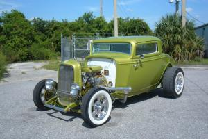 1932 Ford 3 Window Coupe,350, Air,4 Wheel Disc,700/R4, One Of A Kind Old School!