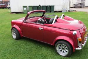 classic mini roadster , only a handfull ever made, custom build ,cool summer car