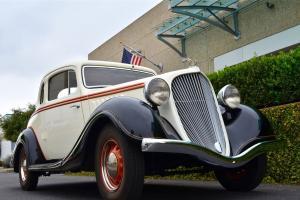 1934 Hudson Terraplane KU Rumble Seat Coupe Super Six Restored All Steel CA Photo
