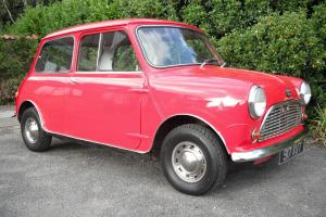 1960 AUSTIN SEVEN MINI MK1 IN RED. MOT JUNE 2014 TAX EXEMPT