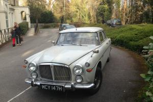 1969 ROVER 3.5 LITRE SILVER TAX EXEMPT MOT TAX PROJECT