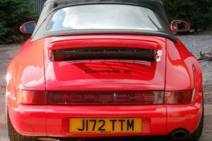 Porsche 911 Carrera 4 964 Convertible 1992 Bright red