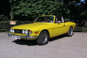 1973 Triumph Stag V8 in Yellow