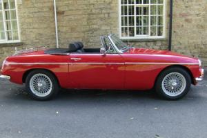 1969 MGB Roadster in Flame Red with Black leather interior