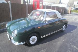 NISSAN FIGARO 1L TURBO IN BRITISH RACING GREEN
