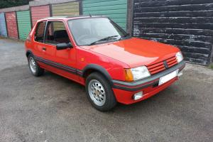 CLASSIC ORIGINAL 1989 PEUGEOT 205 GTI RED low mileage 62000 NOT hilux no swap