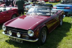 1971 Triumph TR6 Maroon overdrive Tax Exempt