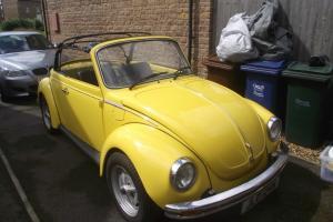 Volkswagen Beetle 1303S Karmann convertible 1975 Yellow