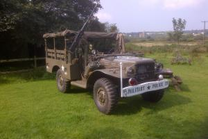 dodge wc51 weapons carrier, ww2 us army military truck