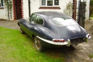 GENUINE BARN FIND 1968 JAGUAR E TYPE COUPE 4,2 LTR, SIR 1 AND A HALF,