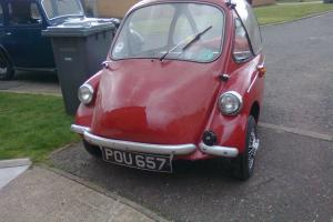HEINKEL BUBBLE CAR 1956 VERY RARE MODEL THREE WHEELER CLASSIC CAR MICROCAR  Photo