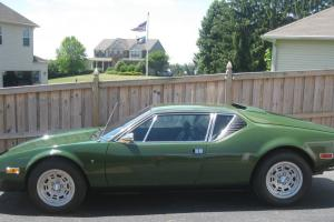 1974 Detomaso Pantera L Rare Green Color Only 10k Miles Original Unmolested