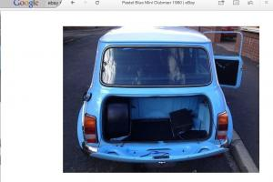 Mini clubman 1980 blue