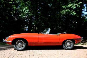 Restored 1963 Jaguar XKE Roadster, Signal Red