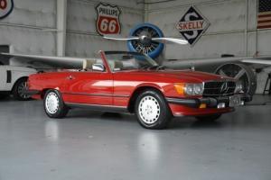 560SL-SIGNAL RED/PARCHMENT-7K ORIG MILES-TRUE MUSEUM PIECE!!!