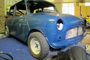 1972 Classic Morris Mini 7 Race Road Car Rolling Shell