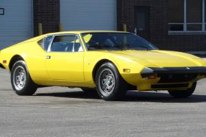 1974 Detomaso Pantera Same Owner for 25 Years- RARE FLY YELLOW-ready for shows
