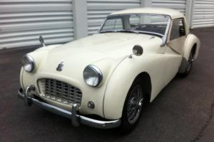 1957 Triumph TR3 Small Mouth with Rare Steel Hard Top and Overdrive