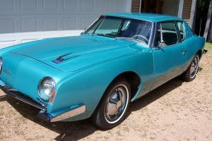 1963 Studebaker Avanti R1 Vintage Car Turquoise  AC/PS Automatic -Rebuilt Engine