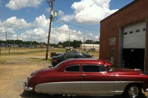 1949 Hudson, maroon and silver 2 dr retro-mod