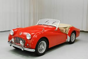 1957 Triumph, Rare Early Smallmouth, Red with Tan Interior by Hyman Ltd.