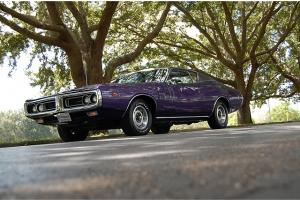 1971 Dodge Charger R/T 440 4-Speed Pistol Grip Plum Crazy Mopar RT Original RARE