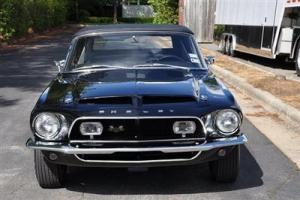 1968 Shelby GT500 Convertible, 1 of 3 in Triple Black Photo
